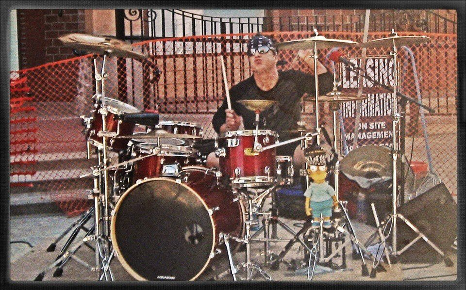 Mike at his drums...